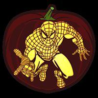 Spiderman Pumpkin Stencil