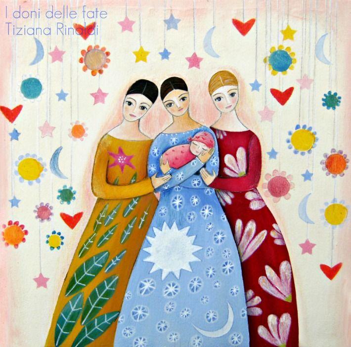 I doni delle fate - #sisters #fairies #painting #artwork - Tiziana Rinaldi