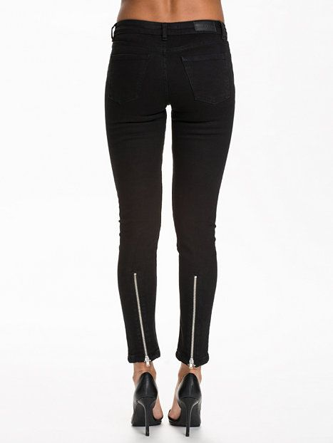 Back Zip Jeans - Nly Trend - Zwart - Jeans - Kleding - Vrouw - Nelly.com