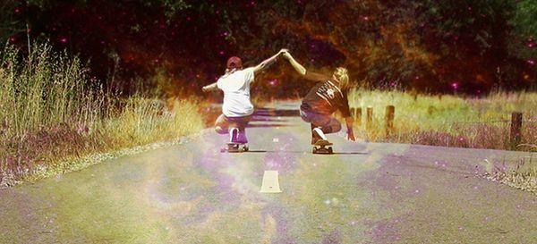 Longboard couple