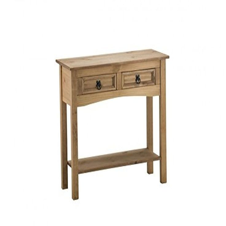 Furniture  2-Drawer Console Table - Pine 94.4 x 37 x 12.8 cm