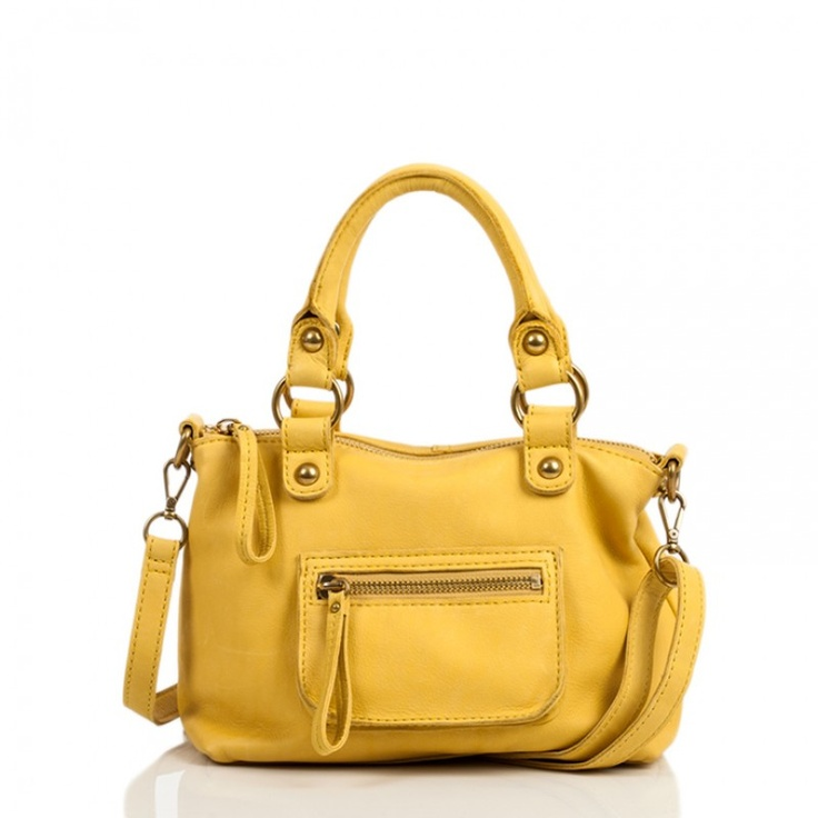 Linea Pelle Dylan Mini Speedy Bag in Yellow