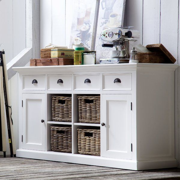 Buffet Or Sideboard You Choose What To Call It But A Storage Showpiece Like This Almost Needs No Label From Dinin White Buffet Wood Sideboard Dining Buffet