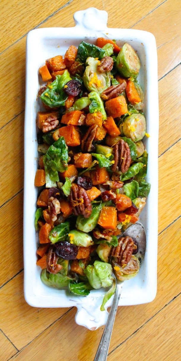 Orange Glazed Brussels Sprouts & Butternut Squash |