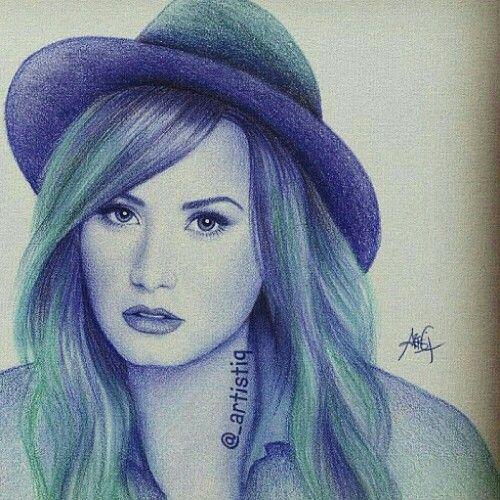 Demi Lavato Hand Drawn!!!!!!