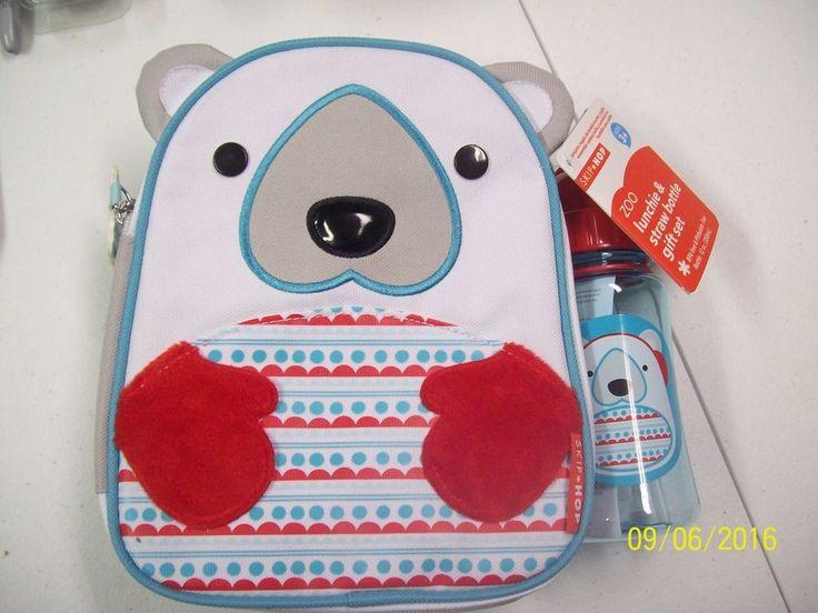 Skip Hop Zoo Lunchie and straw bottle gift set. Bottle 12oz. | eBay!