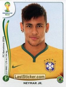 Sticker 48: Neymar Jr. - Panini FIFA World Cup Brazil 2014 ...