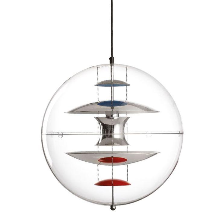 Verpan Verner Panton Globe Ø: 40 - Rød/blå