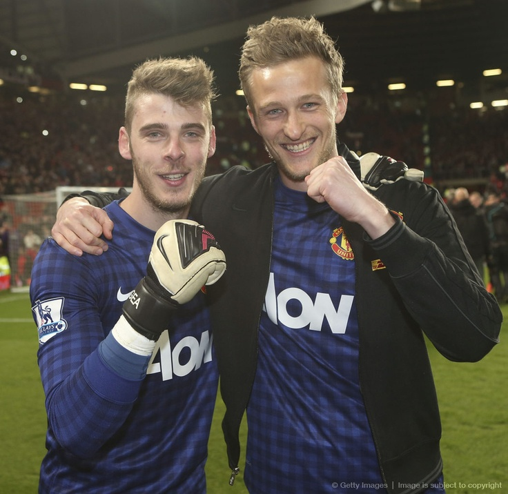 David De Gea and Lindegard Manchester United title winning keepers.