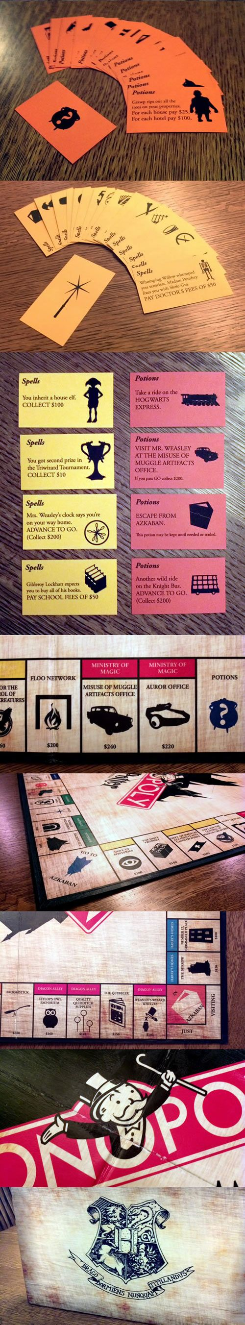 cool-Harry-Potter-Monopoly-game: if this is real, I need one. Need, not want. NEED!