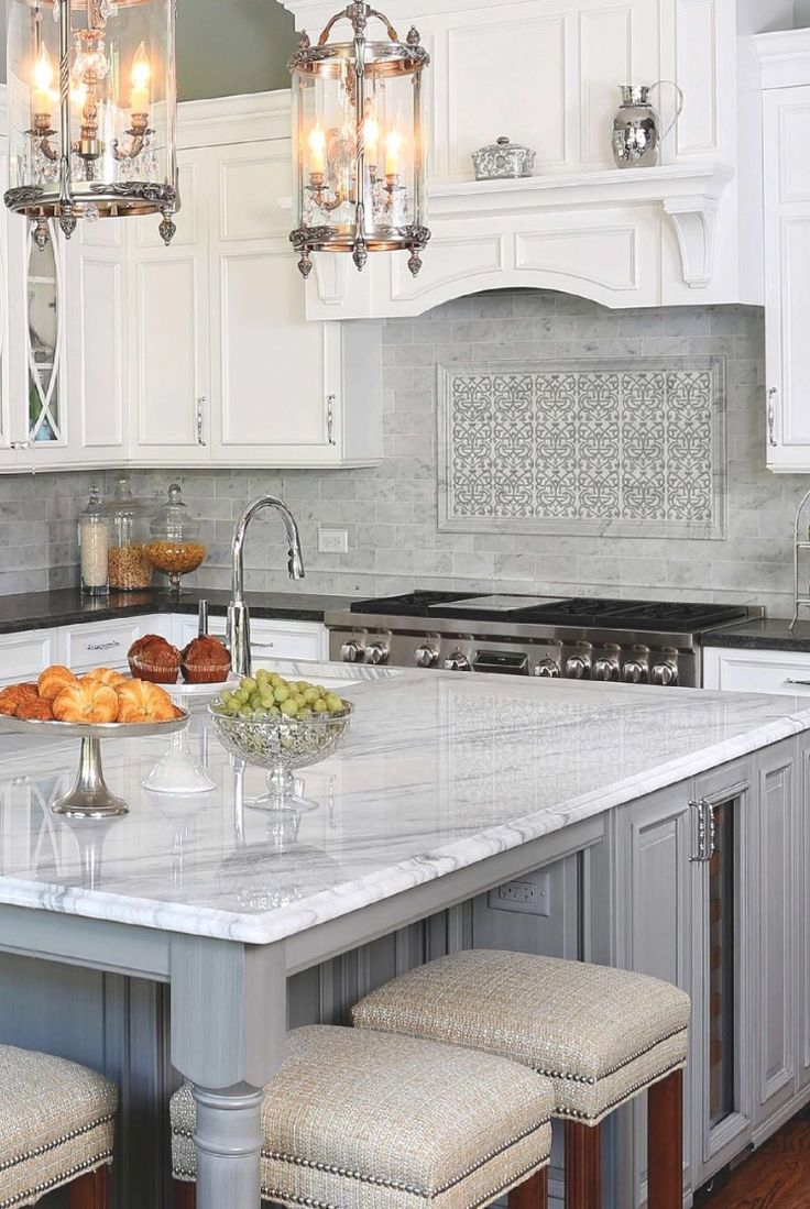 best 25 grey kitchens ideas on pinterest grey cabinets grey this backsplash featuring our charmed pattern was featured on the september 2016 cover of