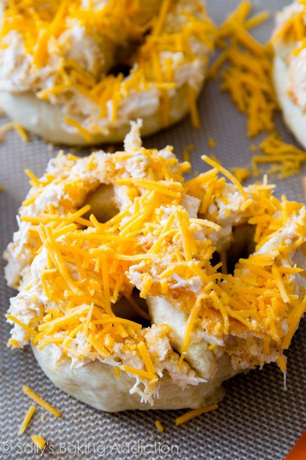 Homemade chewy, super soft pretzels piled high with cheesy crab dip made with fresh jumbo lump crab. This snack is a Maryland favorite!