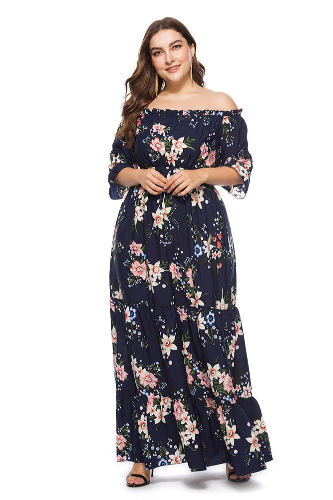 081c72d3af6aa 2019 的 plus size off shoulder dress | PLUS SIZE 主题 | Maxi dress ...