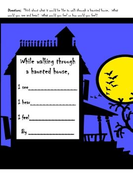 This download is for a Haunted House Writing Prompt and teaching guide.  I suggest purchasing my Halloween File Folder Word Wall to use with this a...