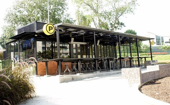 An eco friendly shipping container cafe restaurant and bar in singapur container cafe mobile - Eco friendly shipping container homes ...