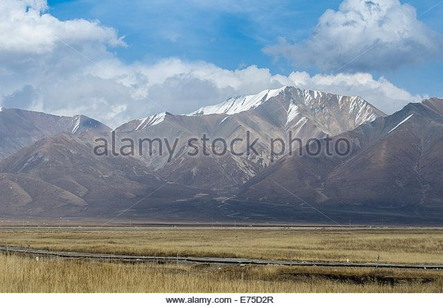 Mountains and clouds of Tibet, Qinghai province of China - Stock Image
