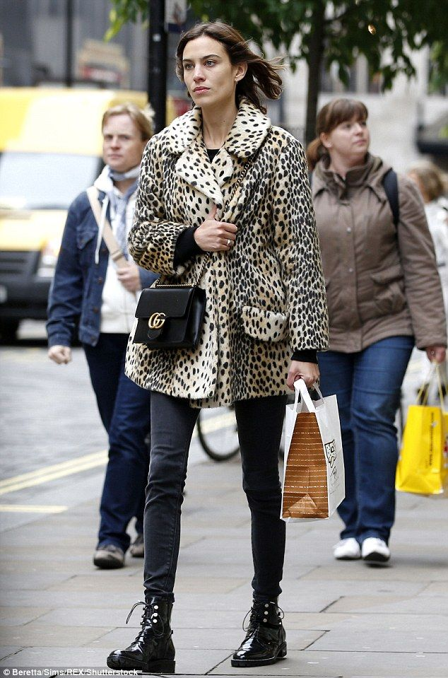 Perennially stylish: Alexa Chung looked as cool as ever in her warming ensemble as she stepped out in chilly London on Thursday