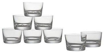 Set of 8 Bitty Bite Short Glasses - modern - cups and glassware - Crate