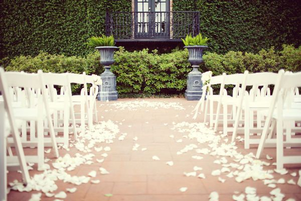 Houston Wedding by Taylor Lord Photography | Rose petal aisle ...