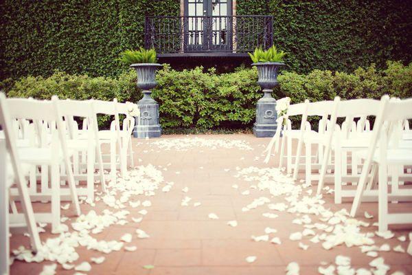 Rose Petals Down Aisle | Wedding Ideas