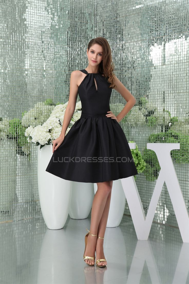 Taffeta Ruffles Knee-Length Straps Sleeveless Prom/Formal Evening Bridesmaid Dresses 02021269