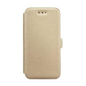 Husa Samsung Galaxy S8 Plus, Inchidere Magnetica, Piele Ecologica, Culoare Auriu