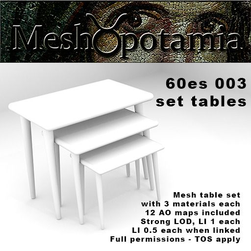 Meshopotamia 60s Set Tables  003