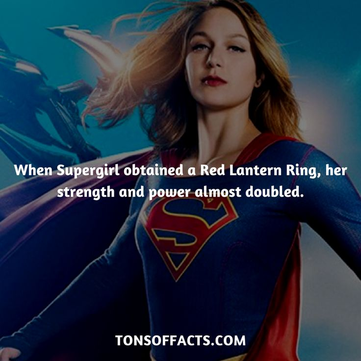 When Supergirl obtained a Red Lantern Ring, her strength and power almost doubled. #supergirl #tvshow #justiceleague #comics #dccomics #interesting #fact #facts #trivia #superheroes #memes #1 #movies #superman