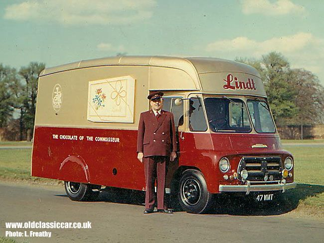 Morris LD-----1950s--Lindt chocolates delivery van with driver.