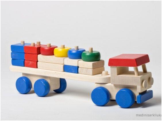 Wooden Toy   Truck Stacker   Wooden Truck   Blocks Truck