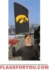 "Iowa Hawkeyes Tailgate Flag 42"" x 20"""