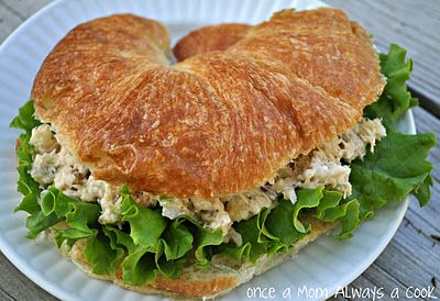 Adding an apple and fresh lemon juice will create a refreshing spin to your tuna fish salad. This is a great, easy lunch option you with not be ashamed of. Try my tuna apple salad on a croissant roll with fresh green leaf lettuce and sliced tomatoes to compliment all the cool flavors.