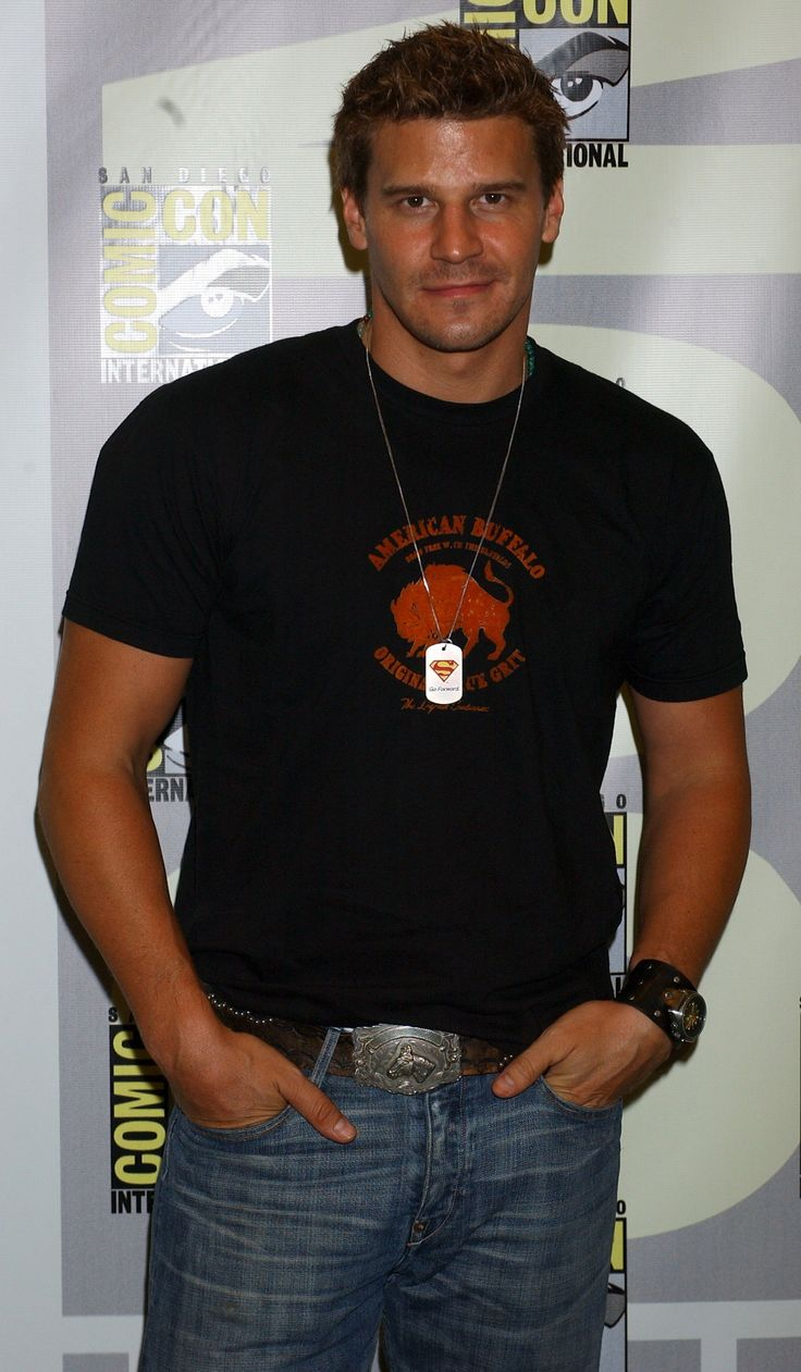 Not only is David Boreanaz HOT, he's wearing a Superman tag - supporting the Christopher & Dana Reeve Foundation.