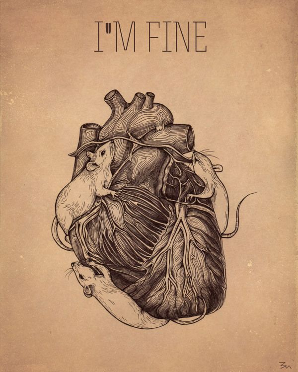 Im fine by Zoe Mironova, via Behance
