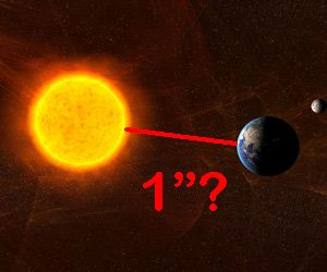 """Science! """"To scale, if the Earth/Sun distance were one inch, a light year would be exactly one mile."""""""