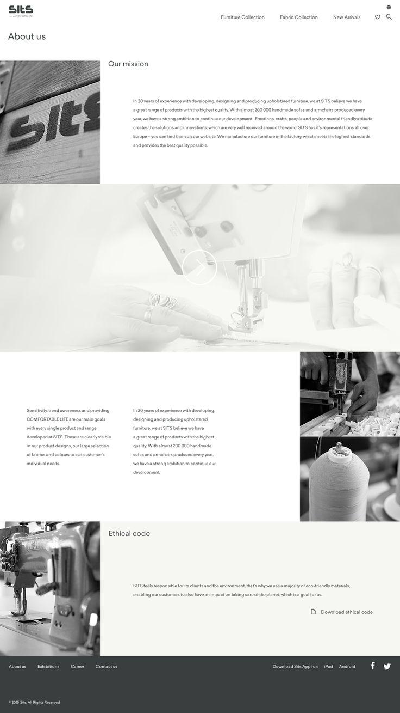 Sits website layout - Niepewny.com