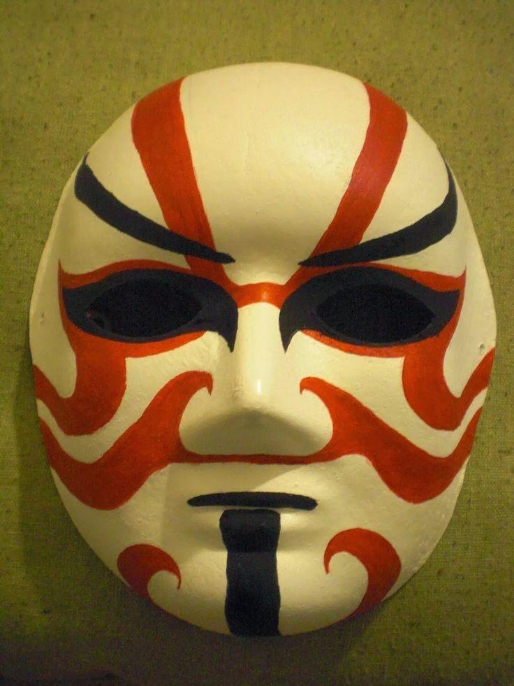 Mask Kabuki, japanese inspiration - Masque théâtre Kabuki