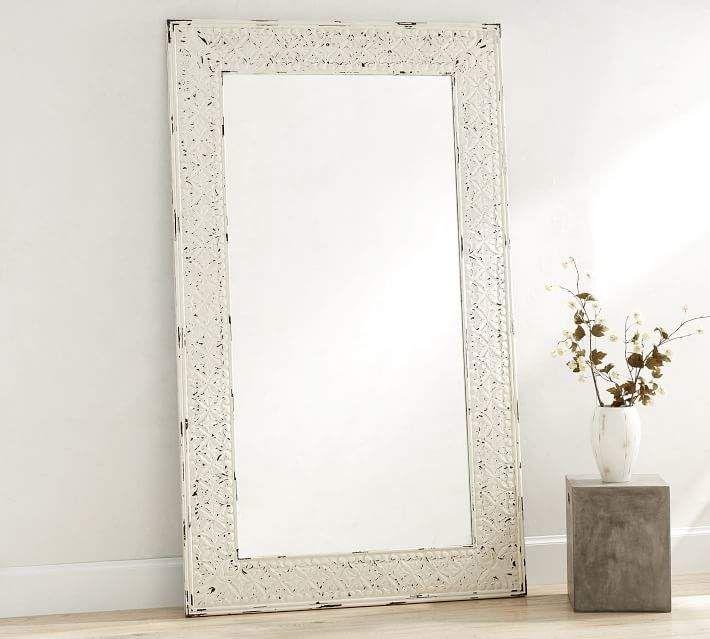 Tehama Wood Floor Mirror Floor Mirror White Wood Floors