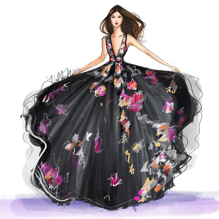 """""""Inspired by the unique pattern of the @zuhairmuradofficial resort collection. Sketched with @copicmarker and @procreateapp #zuhairmurad #procreate…"""""""