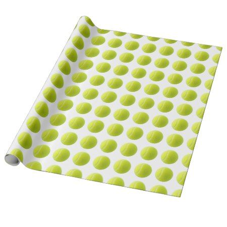 Tennis Ball Wrapping Paper - tap, personalize, buy right now!