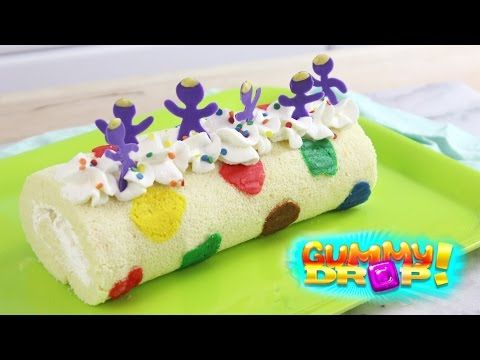 How to Make a Gummy Drop Roll Cake! - YouTube