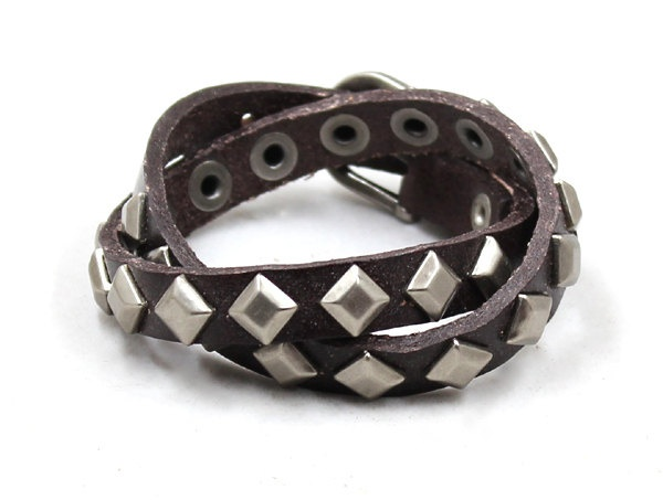 Punk  Leather bracelets,mens leather bracelet double circle,friend leather bangle bracelet,stubbed leather bracelet. $10.99, via Etsy.: Punk Leather, Braceletsmens Leather, Leather Bracelets Mens, Bracelets Mens Leather, Bangle Bracelets, Men'S Leather Bracelets, Leather Braceletsmens