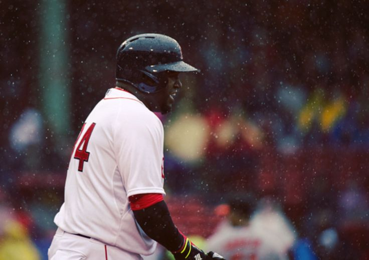 4/20/2015 | David Ortiz sac fly RBI and Red Sox delivered win a fitting tribute for Patriots' Day (Photo by Michael Ivins/Boston Red Sox/Getty Images)