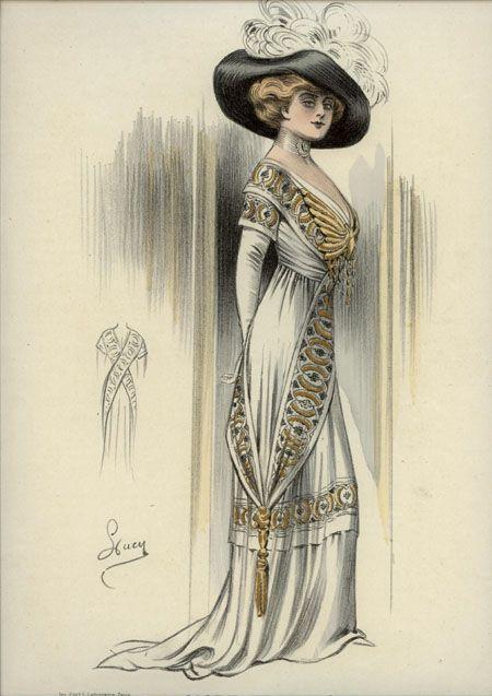 l 39 art et la mode 1910 robe en chameuse rose tunique de mousseline de soie gris etain brodee de. Black Bedroom Furniture Sets. Home Design Ideas