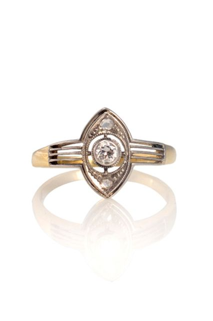 20 Unique Rings For The Offbeat Bride #refinery29  http://www.refinery29.com/unique-engagement-rings#slide12