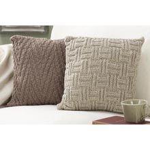 Basketweave & Chevron Pillow Set/2 - Herrschners