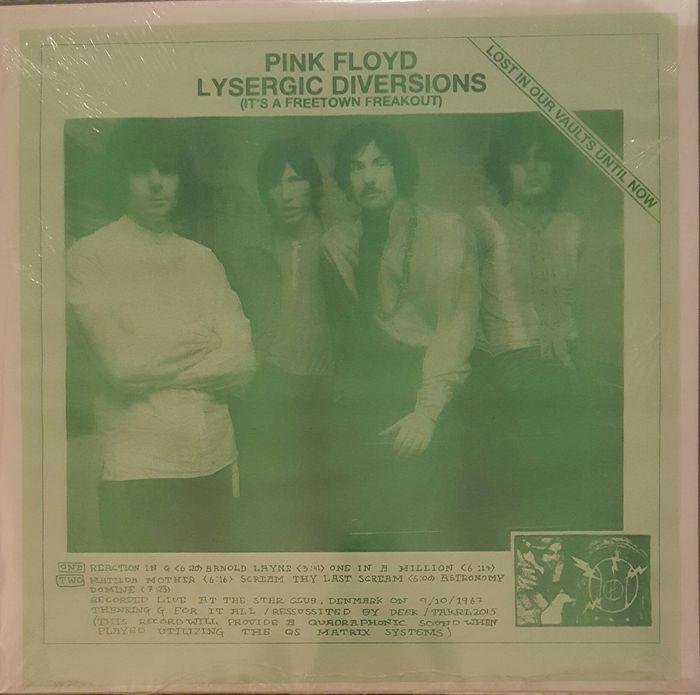 """Pink Floyd """"Lyserginezuur omleidingen"""" (haar A vrije stad Freakout)  Limited Edition van de 118 exemplaren alleenKant 1: Reactie In G.. Layne... One In A MillionZijde 2: Matilor moeder... De laatste Scream schreeuwen... Astronomie.Live opgenomen in de Star Club Denemarken op 9.10.196.Deze Record zorgt voor een quadrafonische geluid wanneer gespeeld met behulp van de Os Matrix-systemenVoorwaarde: Mint (verzegeld)  EUR 1.00  Meer informatie"""