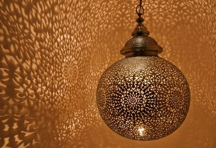 Luxury Moroccan pendant design. Hand cut and hand engraved solid brass with diameters ranging from 12 inches all the way up to 40 inches!