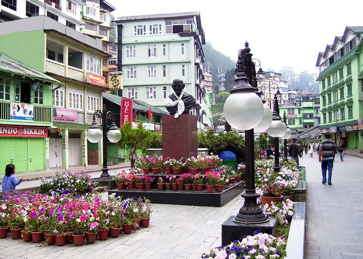 M.G Road Market During Spring, Gangtok - East Sikkim, India (Photographic Print - Unframed)