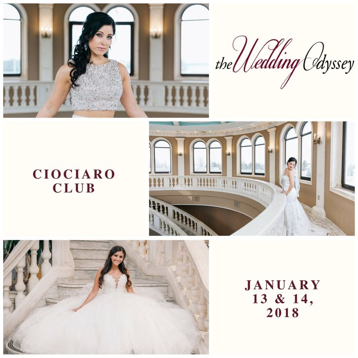 The 18th annual Wedding Odyssey expo is taking place January 13 & 14, 2018 at the Ciociaro Club.  Come by to visit local wedding experts to help plan your perfect wedding.